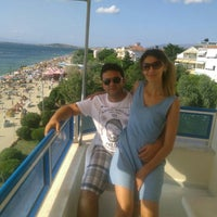 Photo taken at Yureklı Beach Club&Hotel by Ali D. on 8/8/2015