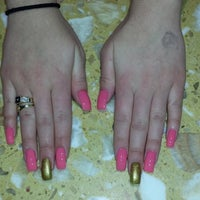 Photo taken at A-T Nails by Anthony V. on 3/13/2014