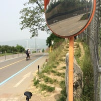 Photo taken at 바위절터앞 자전거길 by Kyurim L. on 5/24/2014