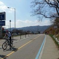 Photo taken at 바위절터앞 자전거길 by Kyurim L. on 3/30/2014