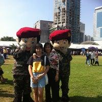 Photo taken at สนามเป้า by พี่น้อย ค. on 1/11/2014