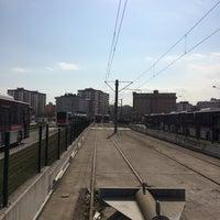Photo taken at Üniversite Tramvay Durağı by Murat A. on 2/21/2017