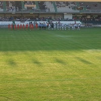 Photo taken at Estadio Municipal Castalia by Isaac G. on 9/14/2014