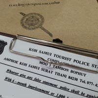Photo taken at Tourist Police Koh Samui by Oleg G. on 5/12/2013