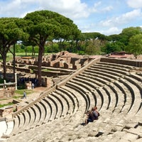 Photo taken at Teatro Ostia Antica by Pianopia P. on 5/1/2015