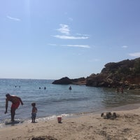 Photo taken at Cala Forn by Gloria N. on 7/7/2016