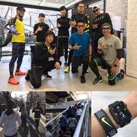 Photo taken at Nike+ Run Club Nakameguro by Benjamin T. on 2/27/2017