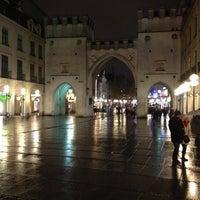Photo taken at Karlsplatz (Stachus) by Maxim P. on 11/29/2012
