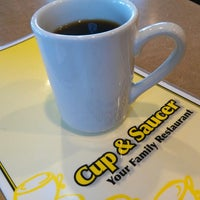 Photo taken at The Cup and Saucer by Sean W. on 7/5/2014