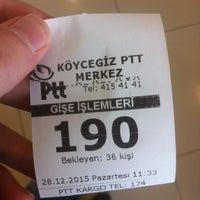 Photo taken at Köycegiz Ptt by İbrahim M. on 12/28/2015
