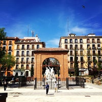 Photo taken at Plaza del Dos de Mayo by Luca D. on 4/22/2013
