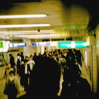 Photo taken at Sakaisuji Line Minami-morimachi Station (K13) by Yoshiki A. on 4/18/2013