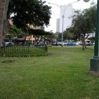 Photo taken at Parque Leoncio Prado by Daniel O. on 8/7/2015