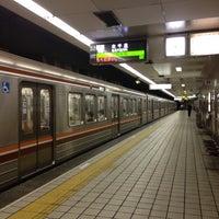 Photo taken at Sakaisuji-Hommachi Station by park j. on 8/30/2013