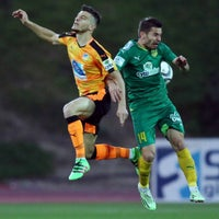 Photo taken at GSZ stadium by Apoel A. on 3/22/2016