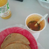 Photo taken at Tacos El Güero Transito by Nallely M. on 1/17/2017