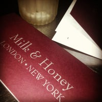 Photo taken at Milk & Honey by Cinzia N. on 6/29/2013