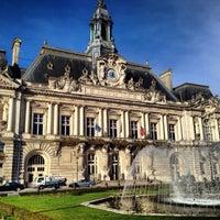Photo taken at Place Jean Jaurès by Arthur G. on 2/13/2014