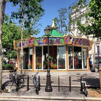 Photo taken at Place des Abbesses by DC on 6/17/2013