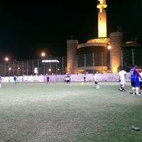 Photo taken at Bait Al Falaj football Stadium by Ashraf Alhaji on 1/12/2015