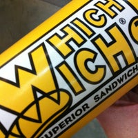 Photo taken at Which Wich? Superior Sandwiches by Kristy L. on 1/19/2013