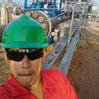 Photo taken at Connoco Philips Suban Gas Plant by Clement L. on 7/4/2015