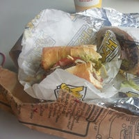 Photo taken at Which Wich? Superior Sandwiches by Bella L. on 3/9/2014