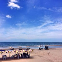Photo taken at Hua Hin Beach by Chanathip U. on 6/8/2014