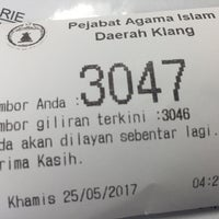 Photo taken at Pejabat Agama Islam Daerah Klang by Wan R. on 5/25/2017