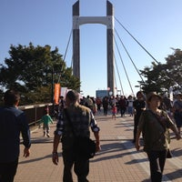 Photo taken at Kiba Park by Yoko N. on 10/21/2012