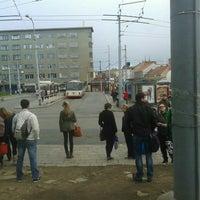 Photo taken at Mendlovo náměstí (tram, bus) by Jean H. on 4/22/2014