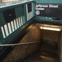 Photo taken at MTA Subway - Jefferson St (L) by Connor R. on 4/2/2016