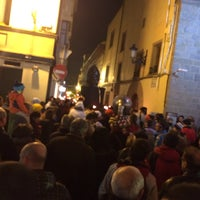 Photo taken at Calle Mayor by Marina M. on 1/11/2014
