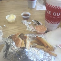 Photo taken at Five Guys by Sarah F. on 5/12/2015