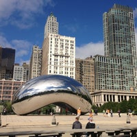 Photo taken at Cloud Gate by Anish Kapoor by Reese L. on 9/16/2013