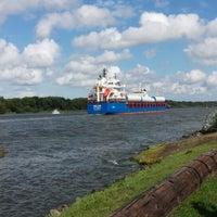Photo taken at Kiel Canal by Wolfgang B. on 8/19/2014