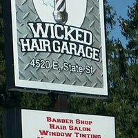 Photo taken at Wicked Hair Garage by Ed P. on 9/16/2015