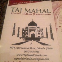 Photo taken at Taj Mahal Great Indian Restaurant by Fred D C. on 5/1/2013