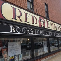 Photo taken at Red Emma's Bookstore Coffeehouse by James C. on 3/2/2013
