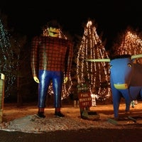 Photo taken at Paul Bunyan & Babe The Blue Ox by Sutton S. on 12/14/2012