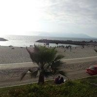 Photo taken at Playa Trocadero by Javier M. on 10/13/2012