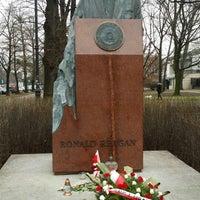 Photo taken at Pomnik Ronalda Regana by Robert P. on 12/29/2013