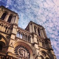 Photo taken at Cathedral of Notre Dame de Paris by Prakasit P. on 7/6/2013