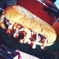 Photo taken at IAN's Burger Bakaq by Umrah S. on 12/22/2013