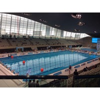 Photo taken at London 2012 Aquatics Centre by Grachelle Lyka M. on 9/20/2014