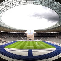 Photo taken at Olympiastadion by JOEL C. on 7/11/2013