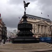 Photo taken at Piccadilly Circus by Николай С. on 5/14/2013