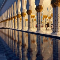 Photo taken at Sheikh Zayed Grand Mosque by Zaid S. on 7/7/2013