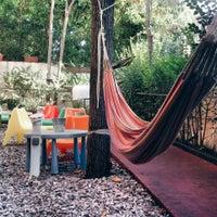 Photo taken at Garden House Hostel Barcelona by tata p. on 10/22/2014
