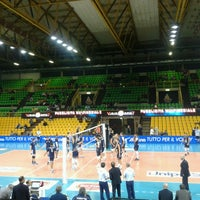 Photo taken at Palapanini Modena - il tempio del volley by Karla H. on 10/29/2014